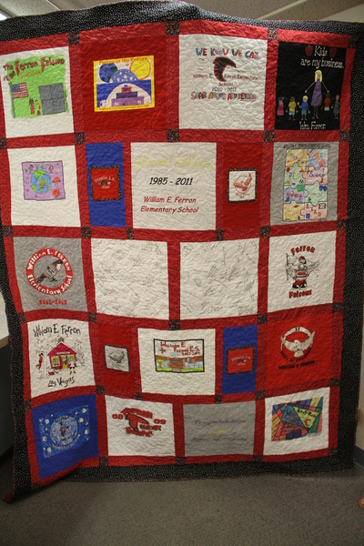Ferron Elementary Quilt, Finished