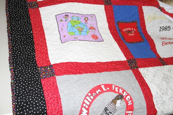 Ferron Elementary Quilt, Closeup