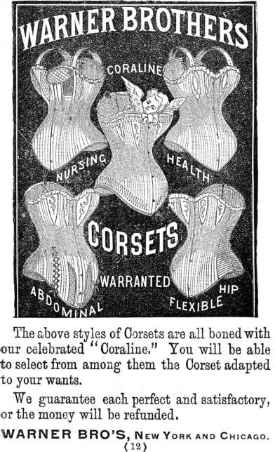 Vintage Corset Ad by Deja Vecu